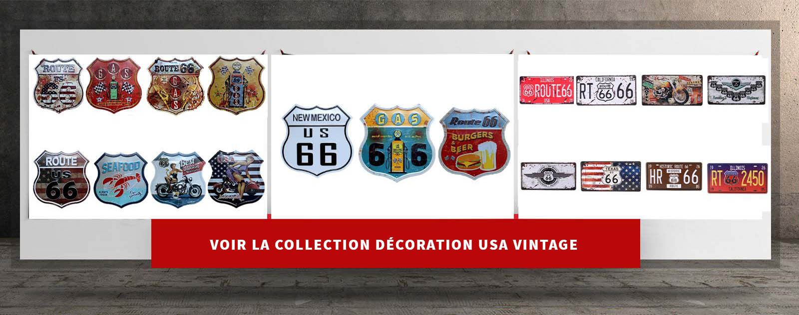 banniere vers collection decoration usa