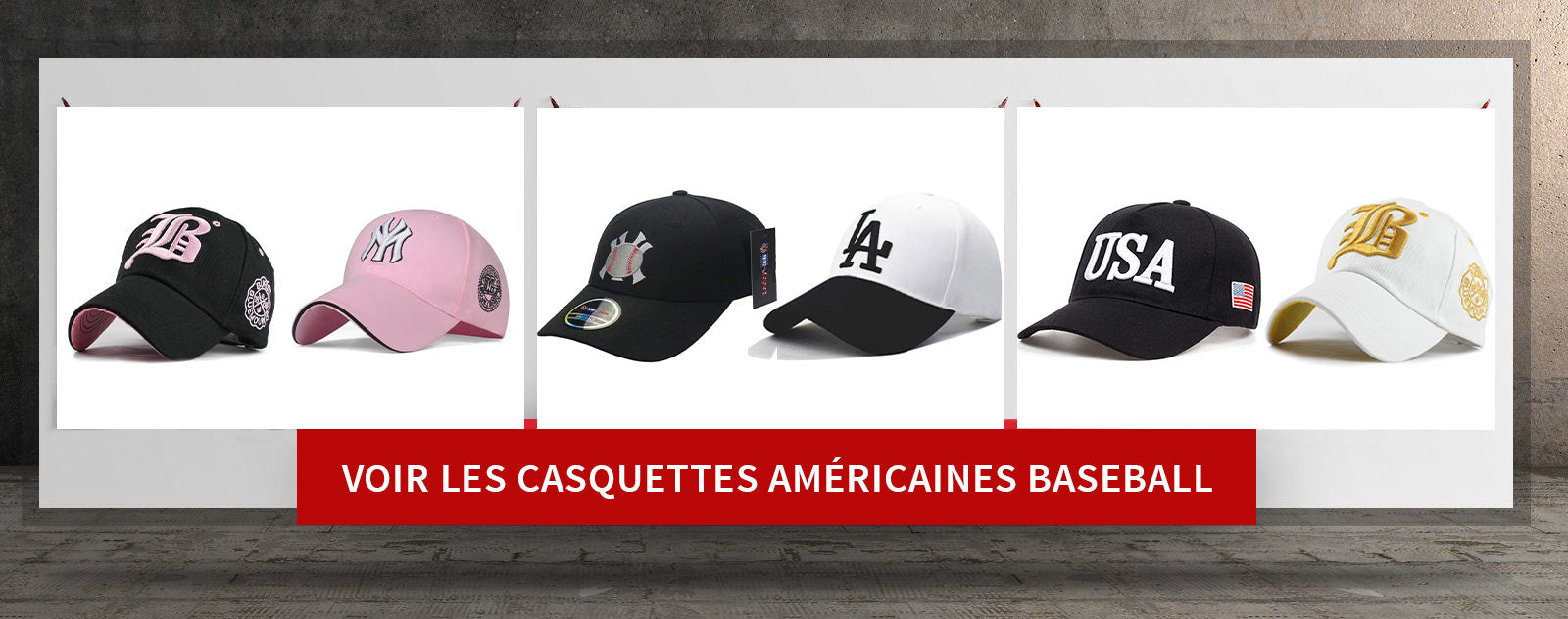 casquettes americaines baseball