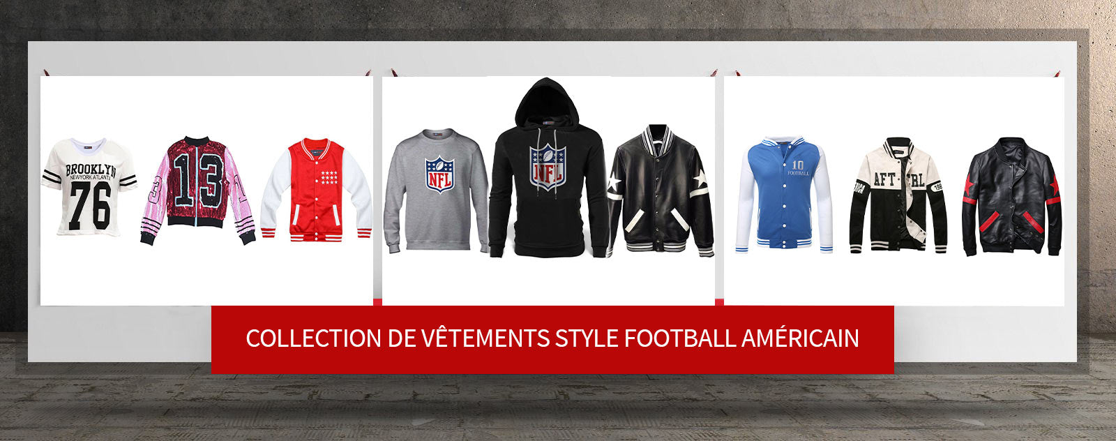 collection vetements style football americain