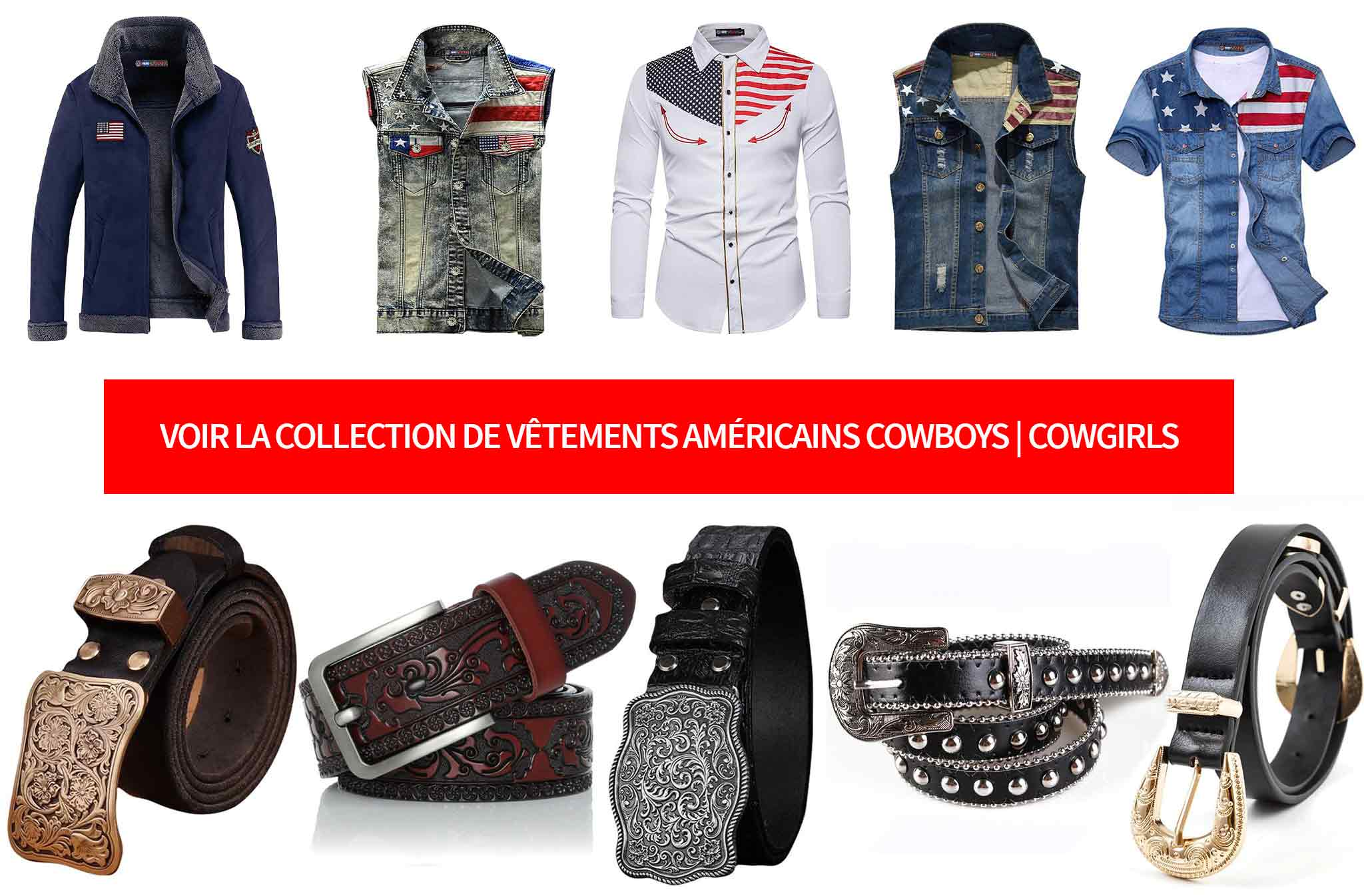 vetements americains style cowboy cowgirl