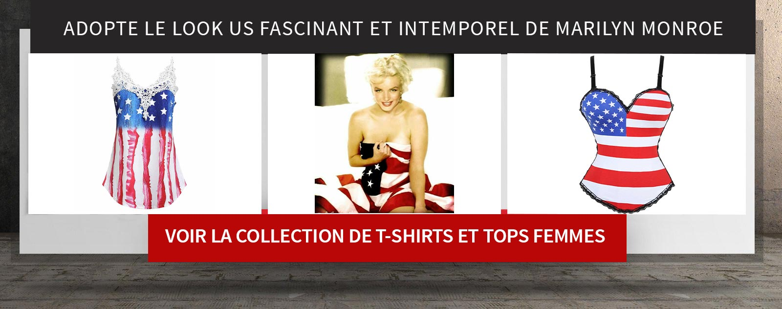 voir collection tee shirts americains femme