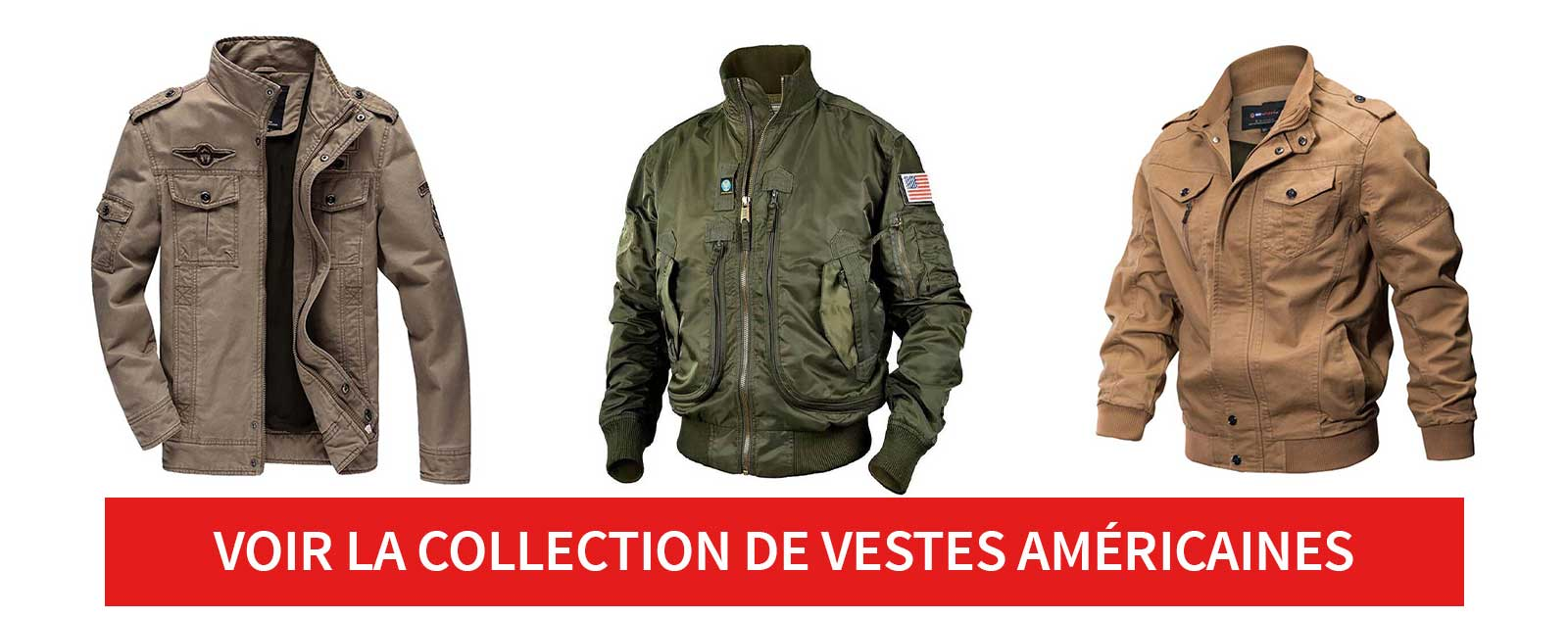 collection vestes americaines