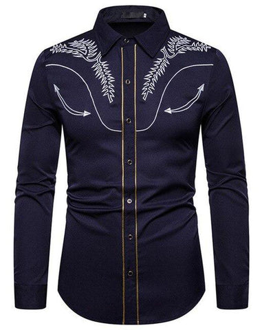 chemise cowboy country western homme