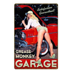 deco metal pin up garage