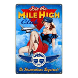 decoration metal americaine pin up