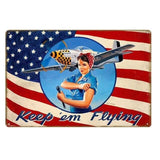 decoration pin up mecano avion