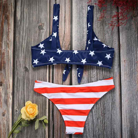 dos maillot bandeau style usa