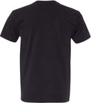 dos t shirt usa noir