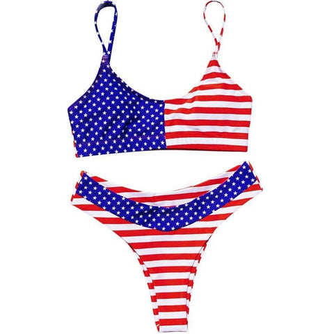 maillot femme motif americain