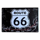 plaque carte trace route 66