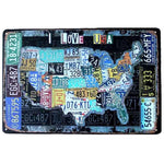 plaque decorative map us
