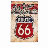 plaque get your kicks on route 66