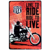 plaque live to ride ride to live