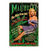 plaque pin up deco marihuana