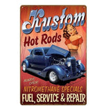 plaque pin up hot rods