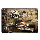 plaque drive voiture collection route 66