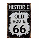 plaque historic route 66
