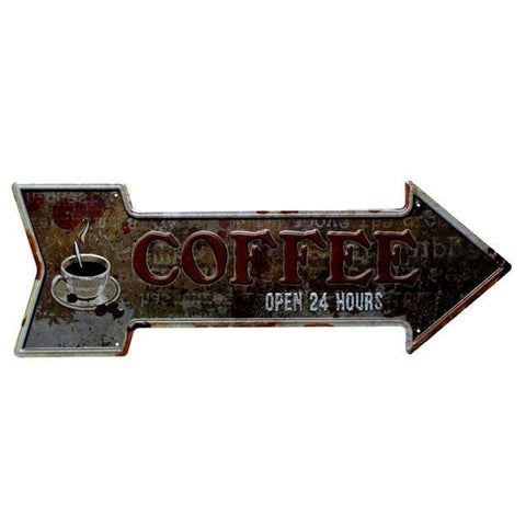 plaque metal retro cafe