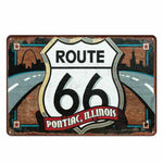 plaque vintage route 66 pontiac illinois
