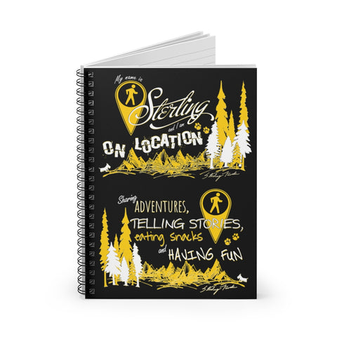Typography Spiral Notebook (black)
