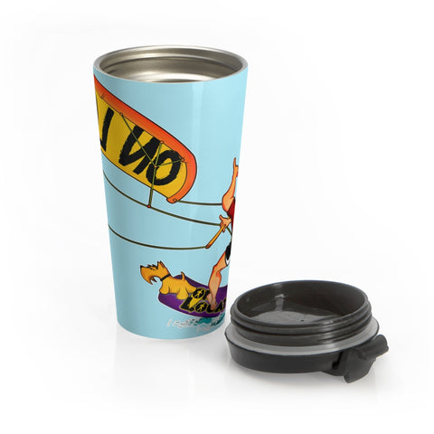 Kiteboarding 15 oz Travel Mug (sky blue)