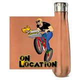 Mountain Biking 16 oz Metallic Water Bottle (multiple colors)