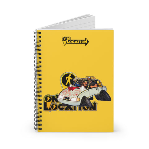Navigation Driving Challenge Spiral Notebook (safety yellow)