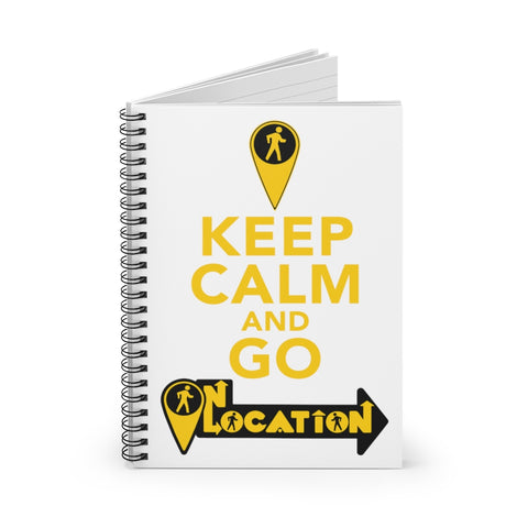 Keep Calm Spiral Notebook (white)