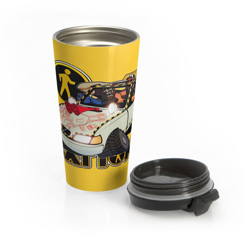 Navigation Driving Challenge 15 oz Travel Mug (safety yellow)