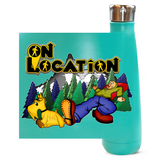 Keep On Hiking 16 oz Metallic Water Bottle (multiple colors)