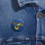 Keep On Hiking Button (dark blue)