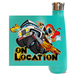 4x4 Rock Crawling 16 oz Metallic Water Bottle (multiple colors)