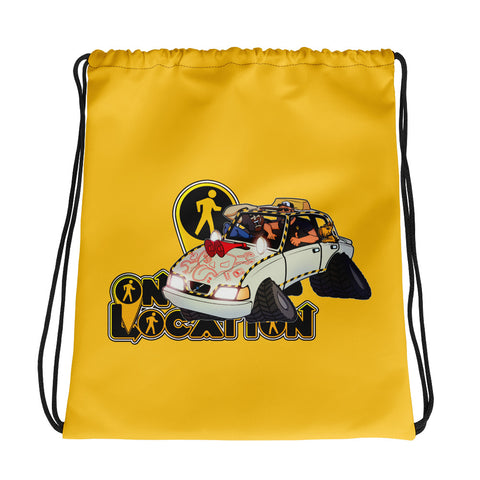Navigation Driving Challenge Drawstring Bag (safety yellow)