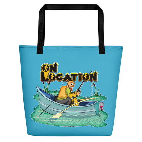 Fishing Beach Bag (river blue)