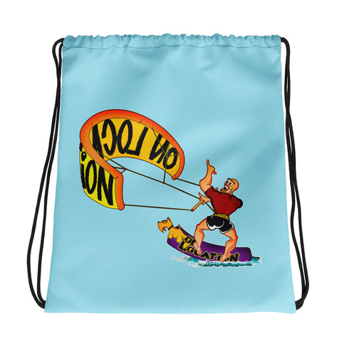 Kiteboarding Drawstring Bag (sky blue)