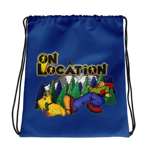 Keep On Hiking Drawstring Bag (dark blue)