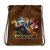 4x4 Rock Crawling Drawstring Bag (dark brown)