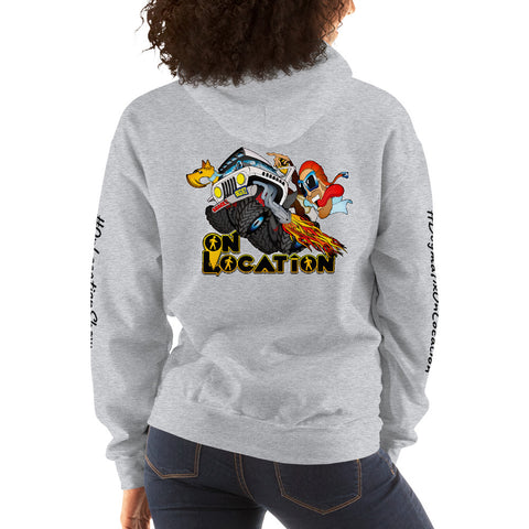 4x4 Rock Crawling Unisex Hoodie (light colors)