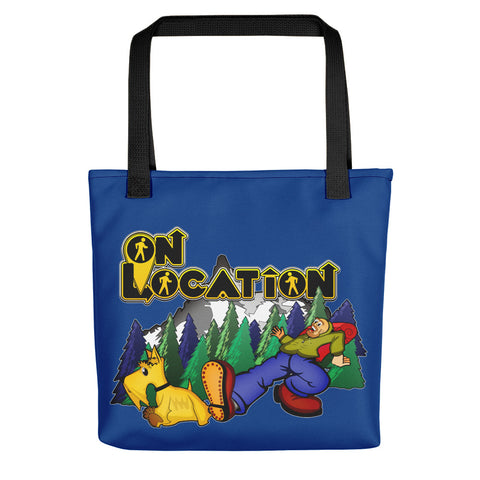 Keep On Hiking Tote (dark blue)