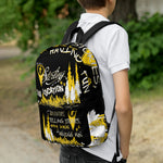 Typography Backpack (black)