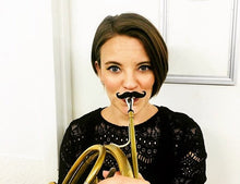 Load image into Gallery viewer, Original Brasstache - Clip-on Mustache for Trumpet