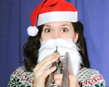 Load image into Gallery viewer, Clip-on Santa Beard for Brass Mouthpieces *AVAILABLE OCT-DEC*