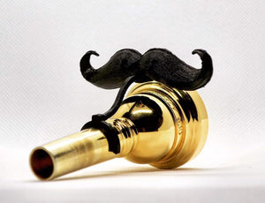 Original Brasstache - Clip-on Mustache for Trombone, Baritone, and Euphonium