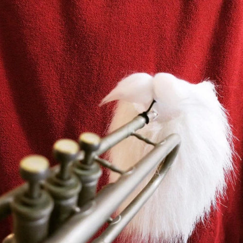 *SOLD OUT!* Clip-on Santa Beard for Brass Mouthpieces