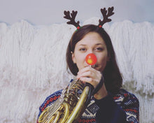 Load image into Gallery viewer, Light-up Rudolph Nose for Brass Mouthpieces