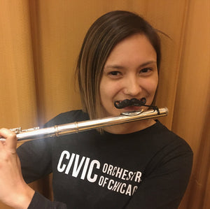Original Flute-stache by Brasstache - Clip-on Mustache for Flute