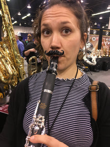 Freddie Clarinet-stache by Brasstache - Clip-on Mustache for Clarinet