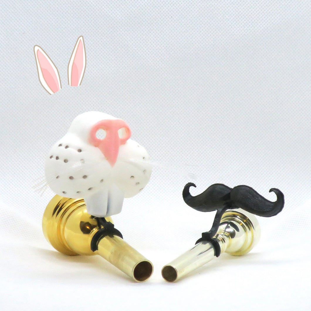 Easter Bunny Nose Brasstache Combo - Includes Clip-on Easter Bunny Nose AND Mustache