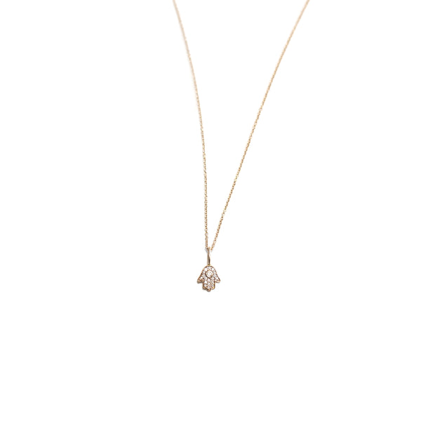 diamond hamsa : necklace