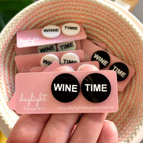 WINE TIME STUDS // 2 COLOURS AVAILABLE